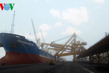 Cảng Cẩm Phả xuất 8.000 tấn than trong ngày mùng 1 Tết