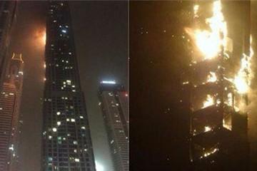 Cháy tòa chọc trời ở Dubai, hàng trăm người sơ tán