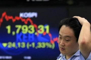 Chứng khoán và nội tệ các nước mới nổi đồng loạt giảm