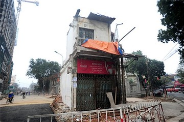 Hà Nội cưỡng chế căn nhà giữa đường Kim Mã - Trần Phú
