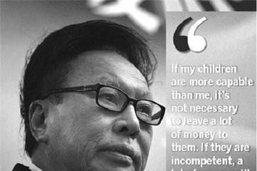 Tỷ phú thế giới dạy con: Tiền không phải là tất cả!
