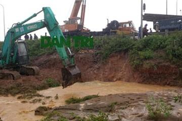 Đường ống dẫn nước sạch sông Đà: Cứ mưa nhiều là lại…vỡ !