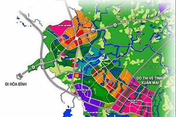 Hà Nội công bố quy hoạch đô thị vệ tinh Xuân Mai