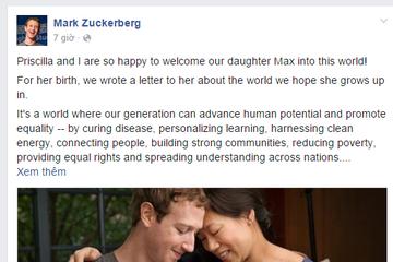 Tại sao lá thư gửi con gái của CEO Facebook lại 'gây sốt' trên thế giới?