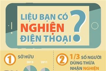 [Infographic] Bạn có phải người nghiện điện thoại?