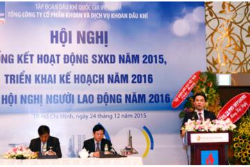 PVD đặt kế hoạch lợi nhuận năm 2016 chỉ 500 tỷ đồng, bằng 30% năm 2015