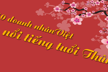 [Infographic] 10 doanh nhân Việt nổi tiếng tuổi Thân