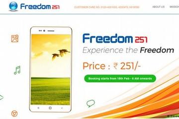 Những hình ảnh về chiếc điện thoại thông minh rẻ nhất thế giới Freedom 251