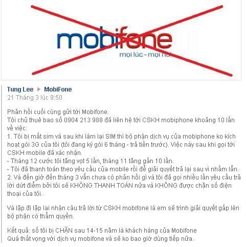 """Mạng 3G Mobifone vẫn bị """"tê liệt"""""""