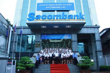 """Sacombank """"đóng băng"""" cổ phiếu ngân hàng sáp nhập"""
