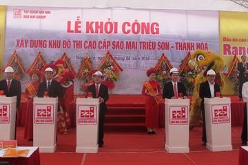 ASM khởi công khu đô thị cao cấp Sao Mai Triệu Sơn Thanh Hóa tổng vốn đầu tư 1.200 tỷ đồng