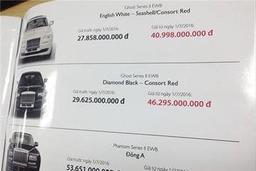Xe Rolls-Royce chính hãng có giá hơn 83 tỷ đồng sau 1/7