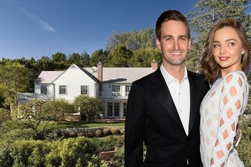 Ngắm ngôi nhà 12 triệu USD của CEO Snapchat và siêu mẫu Miranda Kerr