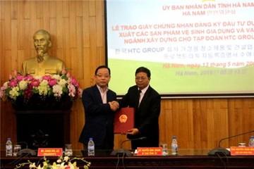 Tập đoàn HTC Group (Hàn Quốc) rót 8 triệu USD vào Hà Nam