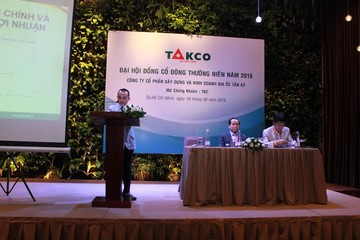 ĐHCĐ Takco: Ký kết hàng loạt dự án mới, đặt kế hoạch 2016 đầy thận trọng