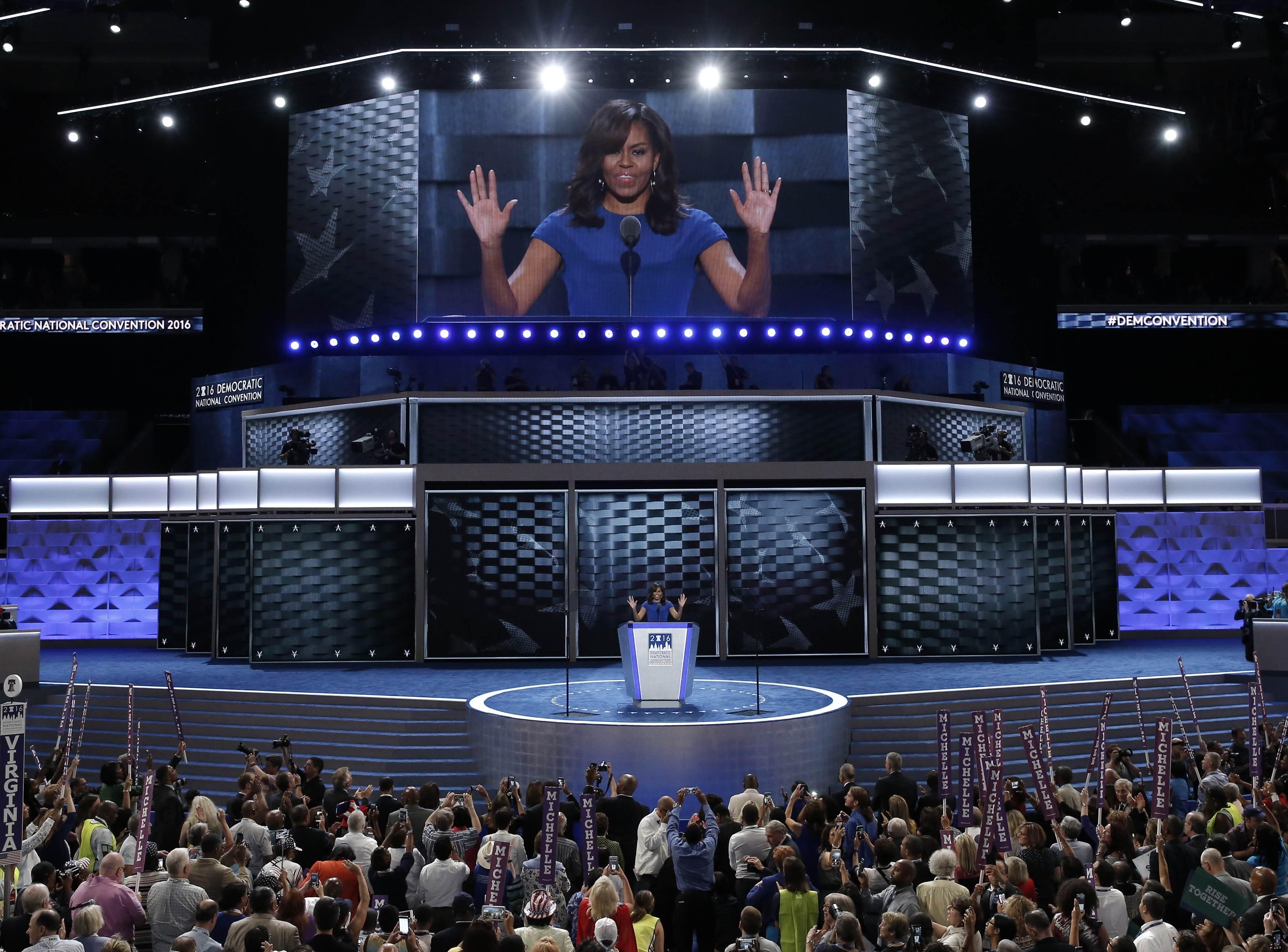 """Đệ nhất phu nhân Mỹ gây sốt với bài phát biểu """"hay tuyệt vời"""""""