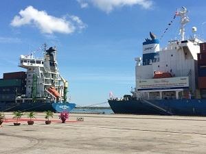 Trường Hải mở rộng cảng Chu Lai-Trường Hải, đón tàu container quốc tế đầu tiên
