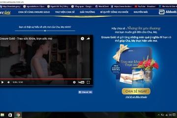Abbott bị tố sử dụng trái phép hình ảnh và thông tin cá nhân trong quảng cáo sữa Ensure Gold