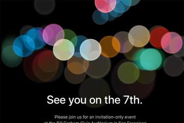 Apple gửi thư mời ra mắt iPhone 7 vào ngày 7/9