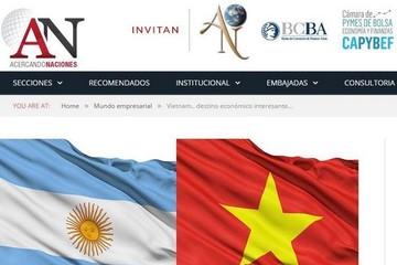 Truyền thông Argentina ca ngợi thành tựu kinh tế Việt Nam