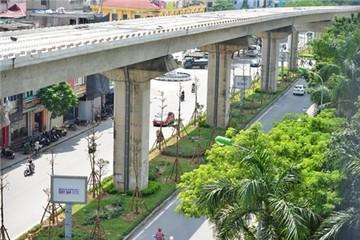 Hà Nội trồng cây xanh dưới đường sắt trên cao