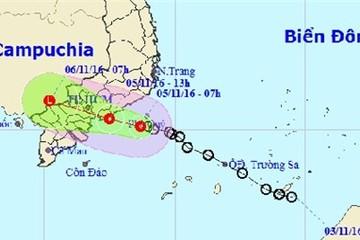 Chiều nay áp thấp nhiệt đới đổ bộ vào Đông Nam Bộ