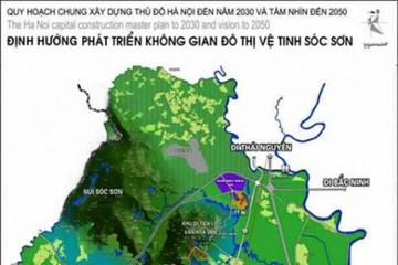 Quy hoạch phân khu 5 đô thị vệ tinh Sóc Sơn có diện tích 1.340 ha