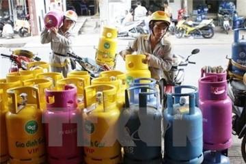Từ 1/12, giá gas giảm 2.500 đồng/bình 12 kg