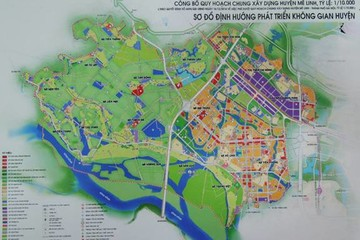 Chuẩn bị thông xe đường trục trung tâm Khu đô thị mới Mê Linh