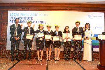 ĐH Ngoại thương TP.HCM vô địch cuộc thi Phân tích đầu tư của Viện CFA tại Việt Nam