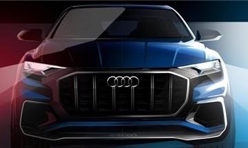 Audi Q8 E-tron lộ hình ảnh đầu tiên
