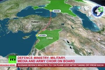 Tìm thấy mảnh vụn máy bay quân sự Nga chở 91 người