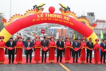 Thông xe công trình cầu vượt nút giao Ô Đông Mác - Nguyễn Khoái