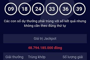 Ngày đầu năm một người trúng giải Jackpot gần 49 tỷ đồng