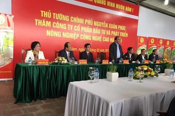Thủ tướng đến thăm khu sản xuất nông nghiệp công nghệ cao tại Hà Nam thuộc công ty NSC, một thành viên tập đoàn PAN Group