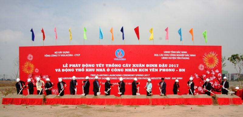 Viglacera động thổ dự án nhà ở cho 4.000 công nhân tại Bắc Ninh