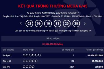 Lần đầu tiên Hà Nội có vé trúng Jackpot 31 tỷ đồng