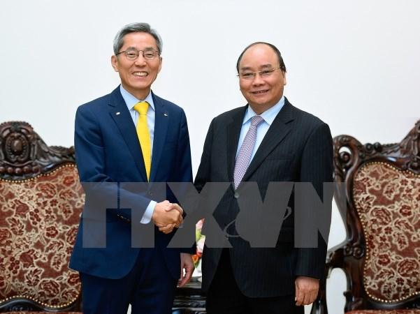 Thủ tướng tiếp Chủ tịch Tập đoàn Tài chính KB Kookmin của Hàn Quốc