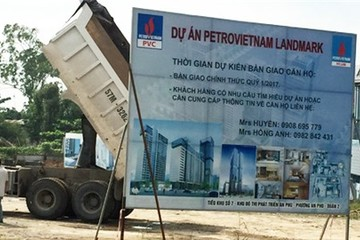 Chủ đầu tư PetroVietnam Landmark bị phong tỏa tài sản