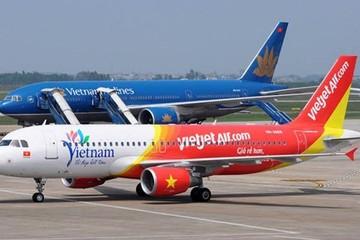 Tăng liên tục từ khi lên sàn, vốn hóa thị trường của Vietjet Air đã vượt qua Vietnam Airlines
