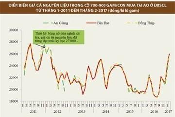 Cung khan hiếm: giá cá tra tiệm cận mức giá kỷ lục năm 2011-2012