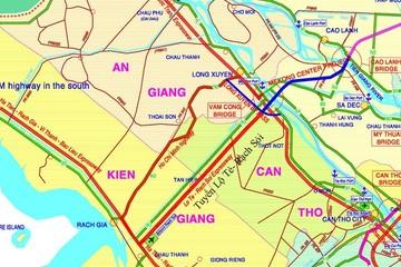 Điều chỉnh tuyến đường nối TP Cần Thơ - tỉnh Kiên Giang lên 4 làn xe