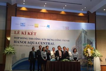 Hòa Bình trúng thầu dự án Hanoi Aqua Central trị giá 320 tỷ đồng