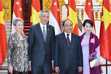 Lễ đón chính thức Thủ tướng Singapore Lý Hiển Long