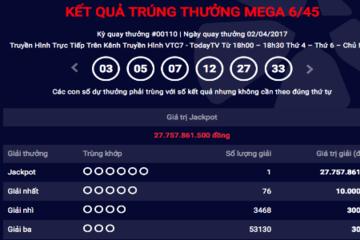 Khách hàng mua vé tại TP.HCM trúng xổ số Vietlott gần 28 tỷ đồng