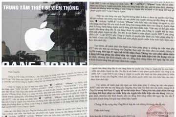 Apple đòi dẹp biển quảng cáo có logo quả táo tại Việt Nam