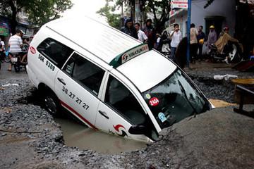 Sụt lún đang lan rộng khắp Sài Gòn