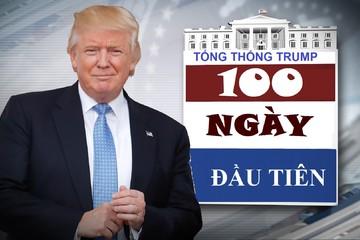 [Infographic] 100 ngày đầu tiên làm Tổng thống của Donald Trump
