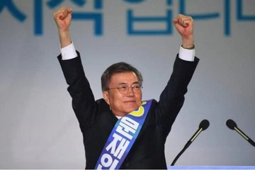 Theo kết quả thăm dò, ông Moon Jae-in thắng trong cuộc bầu cử Hàn Quốc