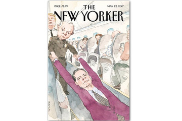 Bìa báo New Yorker: Giám đốc FBI bị kéo khỏi máy bay